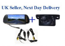 Wireless Video Parking Reversing kit 7'' inch LCD Night View Colour Camera